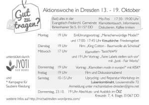 Programm der Micha Initiative in Dresden
