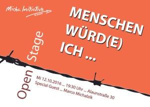 MENSCHEN WÜRD(E) ICH - Open Stage